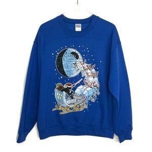 STAR WARS Christmas Crew Neck Sweatshirt Large